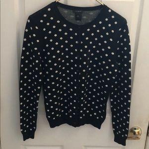 Ann Taylor Black long sleeve cardigan sweater
